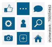 set of social network icons ... | Shutterstock .eps vector #700554862