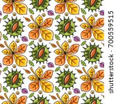 autumn seamless pattern with... | Shutterstock .eps vector #700559515