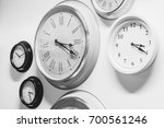many clock modern vintage style ... | Shutterstock . vector #700561246