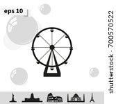silhouette of ferris wheel.... | Shutterstock .eps vector #700570522
