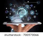view of an international... | Shutterstock . vector #700573066