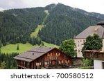landscape of dolomites mountain ... | Shutterstock . vector #700580512