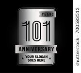 101 years anniversary design... | Shutterstock .eps vector #700583512