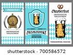 oktoberfest flyer. vector beer... | Shutterstock .eps vector #700586572