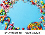 tasty appetizing party... | Shutterstock . vector #700588225