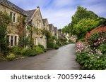 beautiful summer view of street ... | Shutterstock . vector #700592446