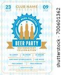 beer festival oktoberfest... | Shutterstock .eps vector #700601362