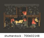 mine for gold mining. miners... | Shutterstock .eps vector #700602148
