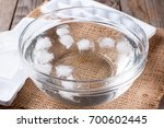 Ice Cubes In Water In A Bowl