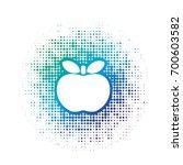 blue color apple icon over dot... | Shutterstock .eps vector #700603582