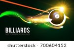 billiards ball with energy... | Shutterstock .eps vector #700604152