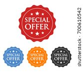 special offer label  badge ... | Shutterstock .eps vector #700610542