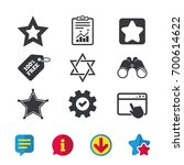 star of david icons. sheriff...