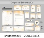 corporate identity kit with... | Shutterstock .eps vector #700618816