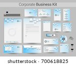 sky blue and white corporate... | Shutterstock .eps vector #700618825