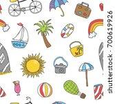 vector hand drawn doodle... | Shutterstock .eps vector #700619926