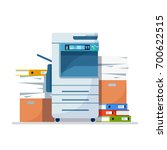 office multifunction printer... | Shutterstock .eps vector #700622515