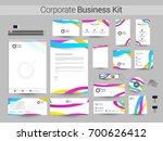 corporate identity templates...   Shutterstock .eps vector #700626412
