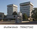 town hall buildings on creiler... | Shutterstock . vector #700627162