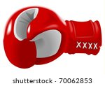 stock vector of red boxing glove | Shutterstock .eps vector #70062853