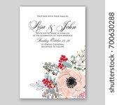 wedding invitation template... | Shutterstock .eps vector #700630288