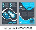 blue and black flyer vector... | Shutterstock .eps vector #700635202