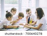 beautiful children are students ... | Shutterstock . vector #700640278