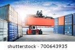 logistics import export... | Shutterstock . vector #700643935