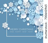 abstract papercraft snowflakes...   Shutterstock .eps vector #700643965