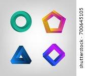 color impossible shapes set.... | Shutterstock .eps vector #700645105