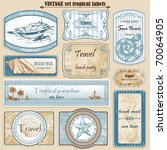 travel set vintage ornate... | Shutterstock .eps vector #70064905