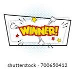 winner comic pop art background ... | Shutterstock .eps vector #700650412