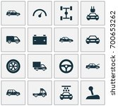 auto icons set. collection of... | Shutterstock .eps vector #700653262