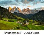 santa maddalena on sunset  val... | Shutterstock . vector #700659886