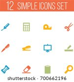 set of 12 tools icons set... | Shutterstock .eps vector #700662196