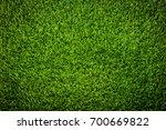 green grass soccer field... | Shutterstock . vector #700669822
