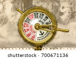 ancient engine room telegraph... | Shutterstock . vector #700671136
