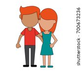 man woman couple avatars icon... | Shutterstock .eps vector #700673236