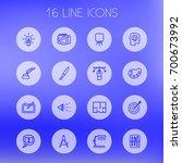 set of 16 creative outline... | Shutterstock .eps vector #700673992