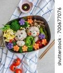 delicious homemade vegetarian...   Shutterstock . vector #700677076