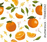 vector summer pattern with... | Shutterstock .eps vector #700683262