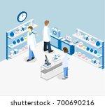 isometric flat 3d concept...   Shutterstock .eps vector #700690216
