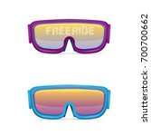 vector ski goggles icon... | Shutterstock .eps vector #700700662