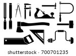 carpentry icons woodwork tool... | Shutterstock .eps vector #700701235