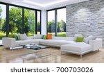 modern bright interiors. 3d...   Shutterstock . vector #700703026