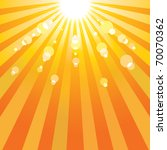 abstract sun background. | Shutterstock . vector #70070362