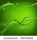 green abstract background with ... | Shutterstock . vector #700704682