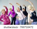seniors at gym | Shutterstock . vector #700710472