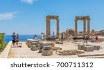 21 june 2017. tourists in the... | Shutterstock . vector #700711312