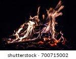 fire  burning coals   Shutterstock . vector #700715002